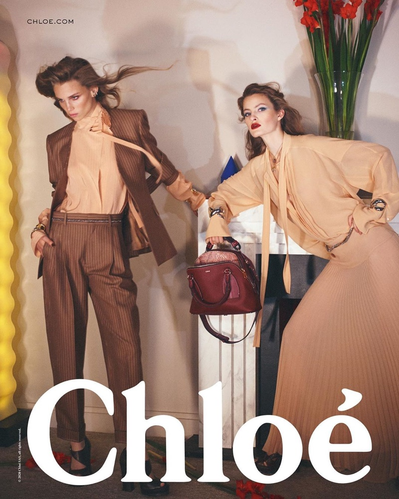 Rebecca Leigh Longendyke and Felice Noordhoff front Chloe spring-summer 2020 campaign