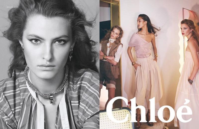 Felice Noordhoff stars in Chloe spring-summer 2020 campaign