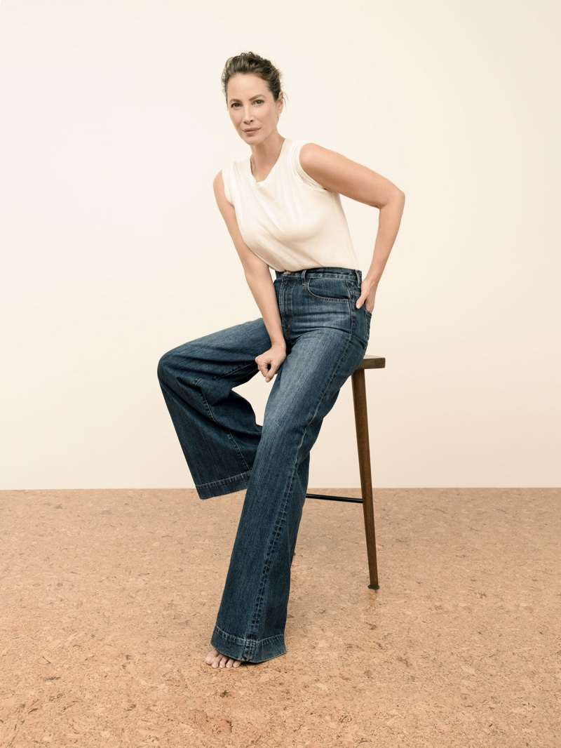 J Brand highlights Thelma High-Rise Super Wide Leg Jeans in spring 2020 campaign
