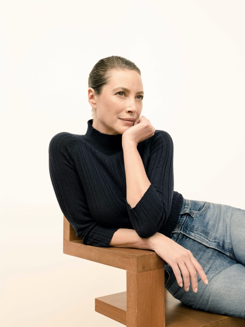 Looking chic, Christy Turlington fronts J Brand spring 2020 campaign