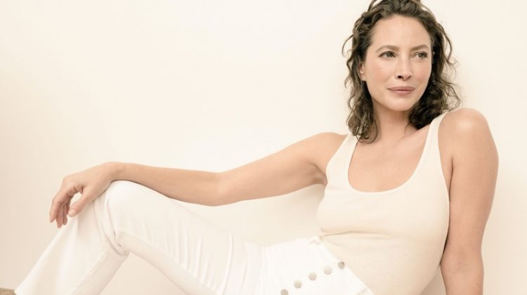 Dressed in white, Christy Turlington fronts J Brand spring-summer 2020 campaign