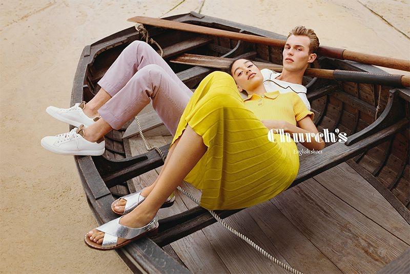 Kit Butler and Damaris Goddrie front Church's spring-summer 2020 campaign