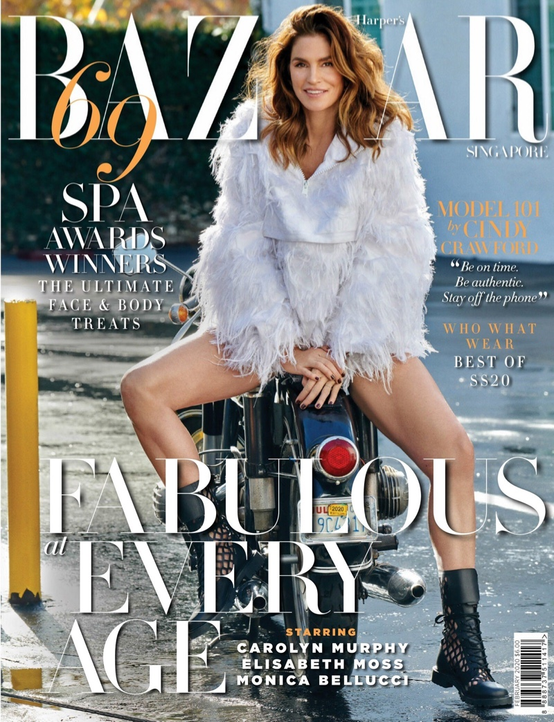 Cindy Crawford Models the Coolest Looks for Harper's Bazaar Singapore