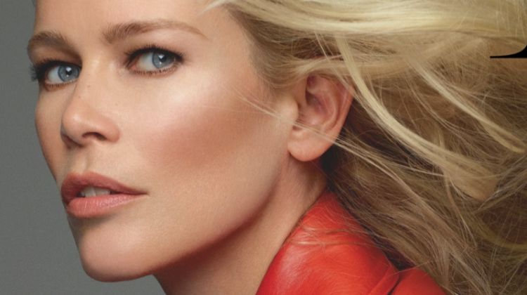 Claudia Schiffer Embraces Chic Fashions for Vogue Russia