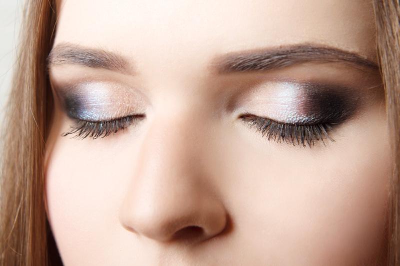Closeup Eyeshadow Eyelashes Makeup