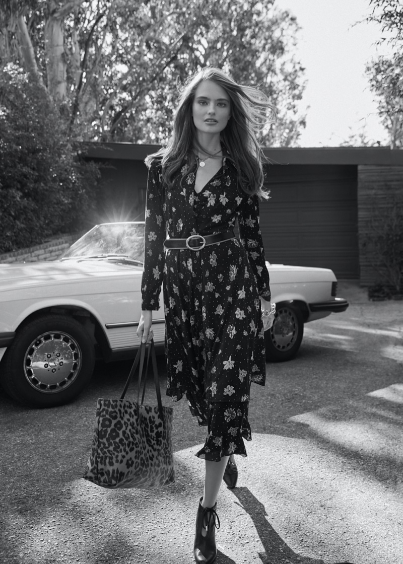 DVF spotlights Vanessa dress from January 2020 collection