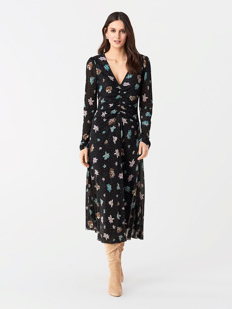 DVF Vanessa Tissue Jersey Midi Dress $428