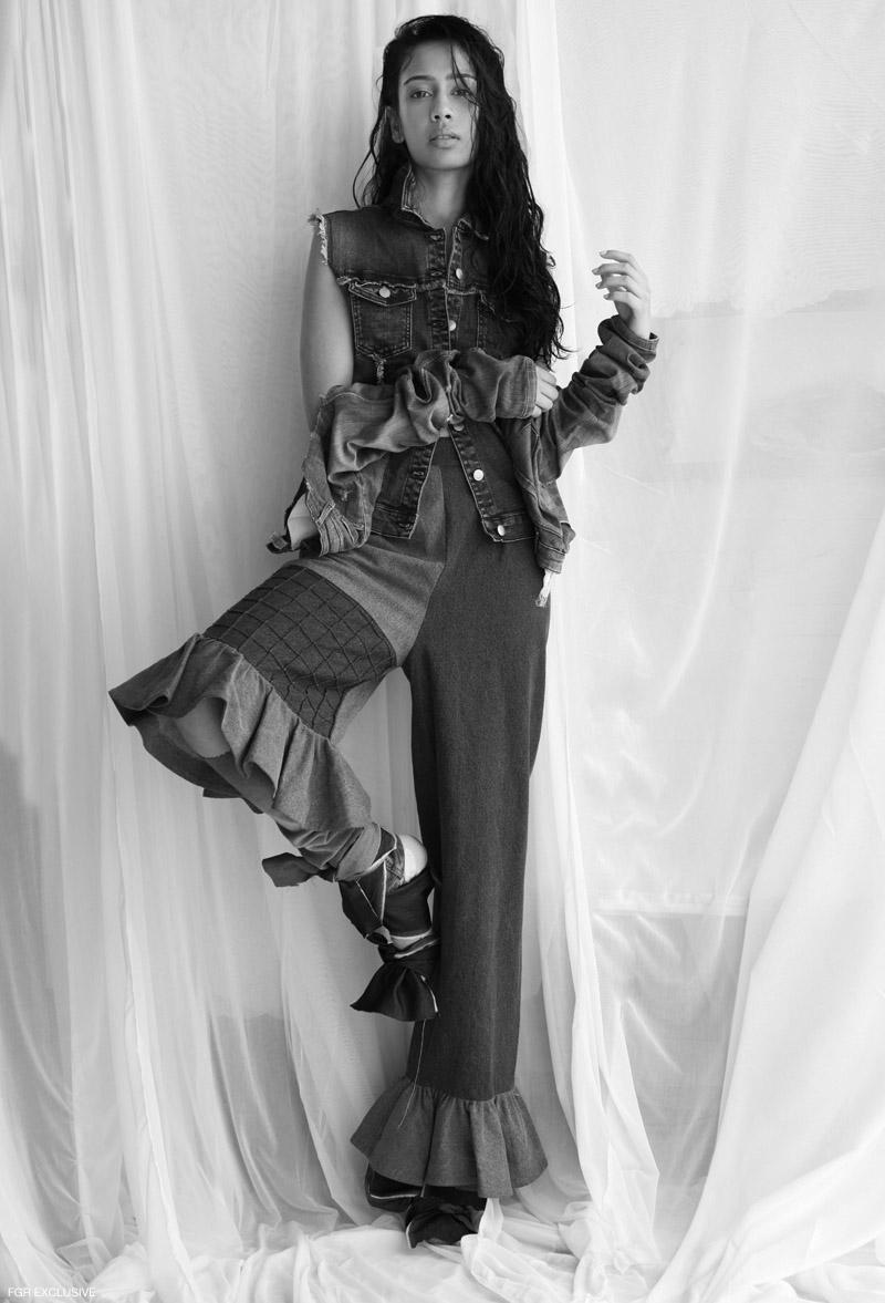 Top Levi's, Pant & Denim Rosh and Torn Denim Sleeve Zara. Photo: Kay Sukumar