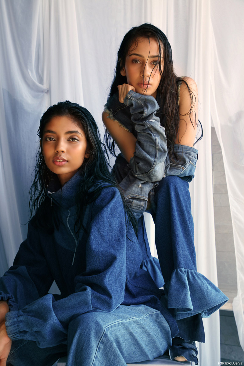 (On Divya) Top Rosh, Pants Madison on Peddar and Boots DKNY. (On Aishwarya) Top Levi's, Pant & Denim Rosh and Torn Denim Sleeve Zara. Photo: Kay Sukumar