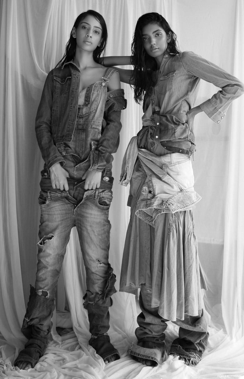 (On Aishwarya) Jacket Levi's, Jumpsuit Zara, Layered Denim - Zara, H&M and Levi's (On Divya) Denim Shirt Gap, Jacket Forever 21, Denim Skirt Madison on Peddar and Jeans H&M. Photo: Kay Sukumar
