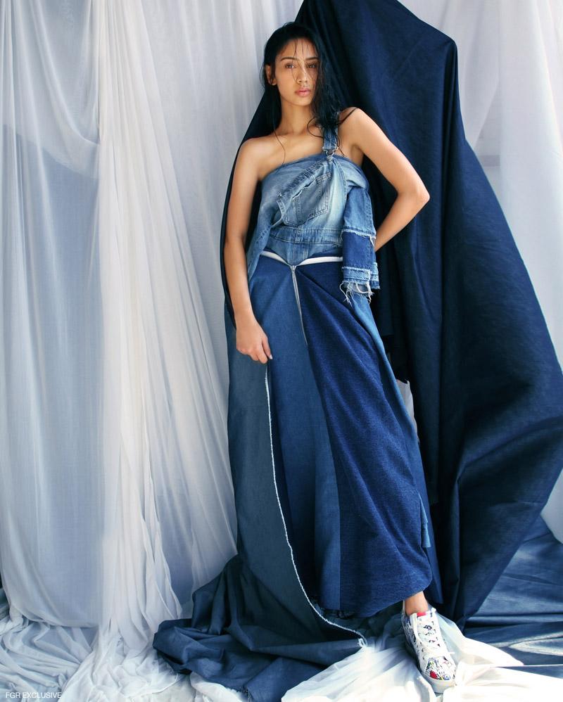 Jumpsuit Zara, Pant (Wrapped as Top) H&M, Denim Dress Rosh and Sneakers Guess. Photo: Kay Sukumar