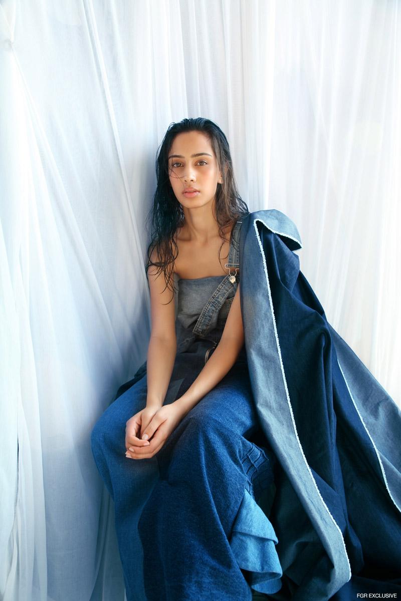 Jumpsuit Zara, Pant (Wrapped as Top) H&M and Denim Dress Rosh. Photo: Kay Sukumar