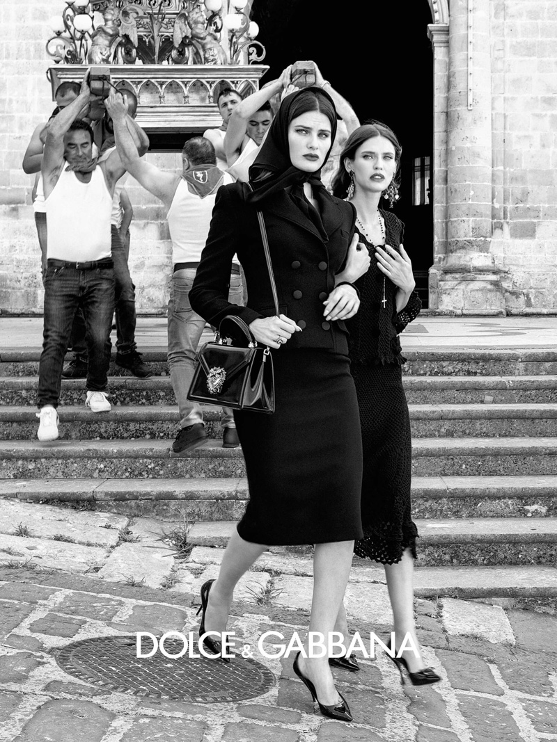 Models Isabeli Fontana and Bianca Balti appear in Dolce & Gabbana spring-summer 2020 campaign