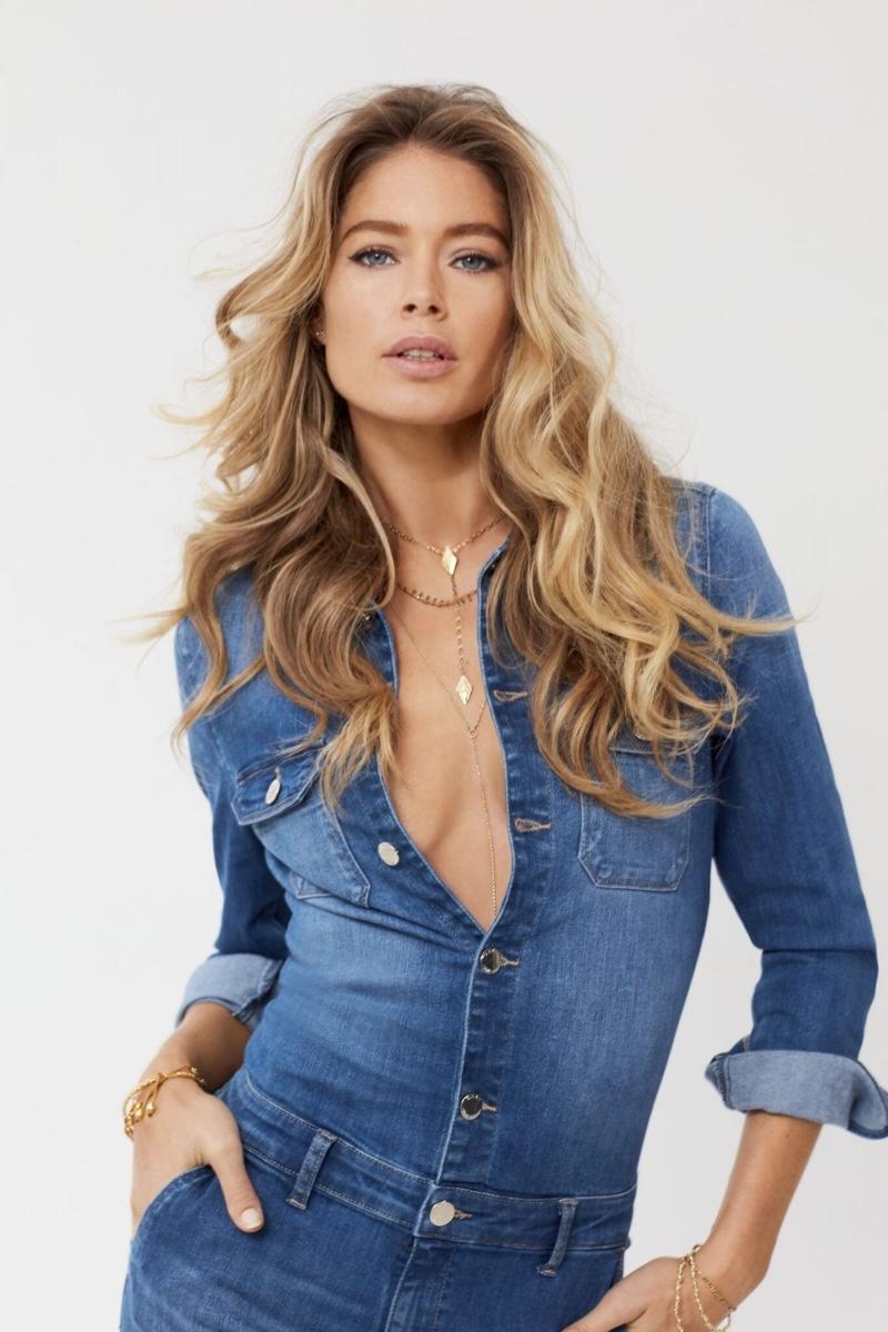 Model Doutzen Kroes wears jeans in Only spring-summer 2020 campaign