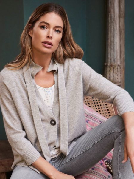 Doutzen Kroes Looks Chic in Repeat Cashmere Spring 2020 Line