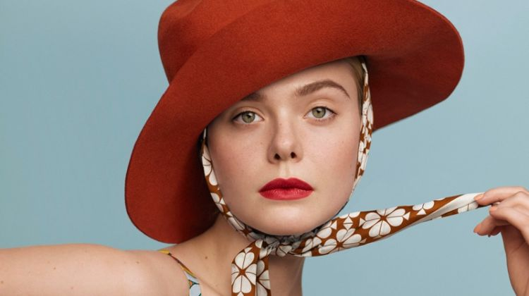 Actress Elle Fanning embraces prints for the fashion shoot