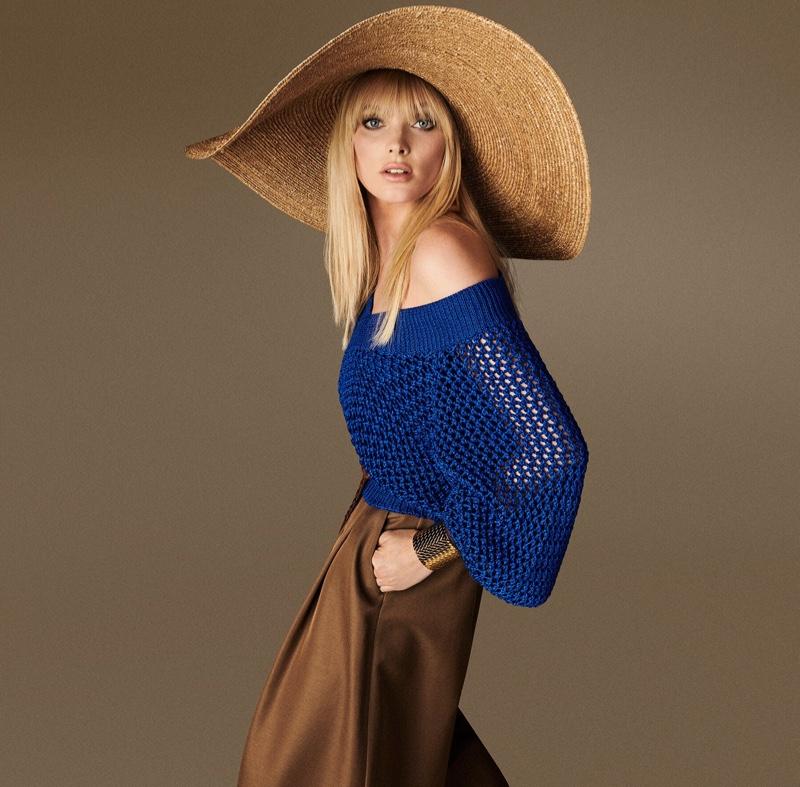 Model Elsa Hosk appears in Luisa Spagnoli spring-summer 2020 campaign