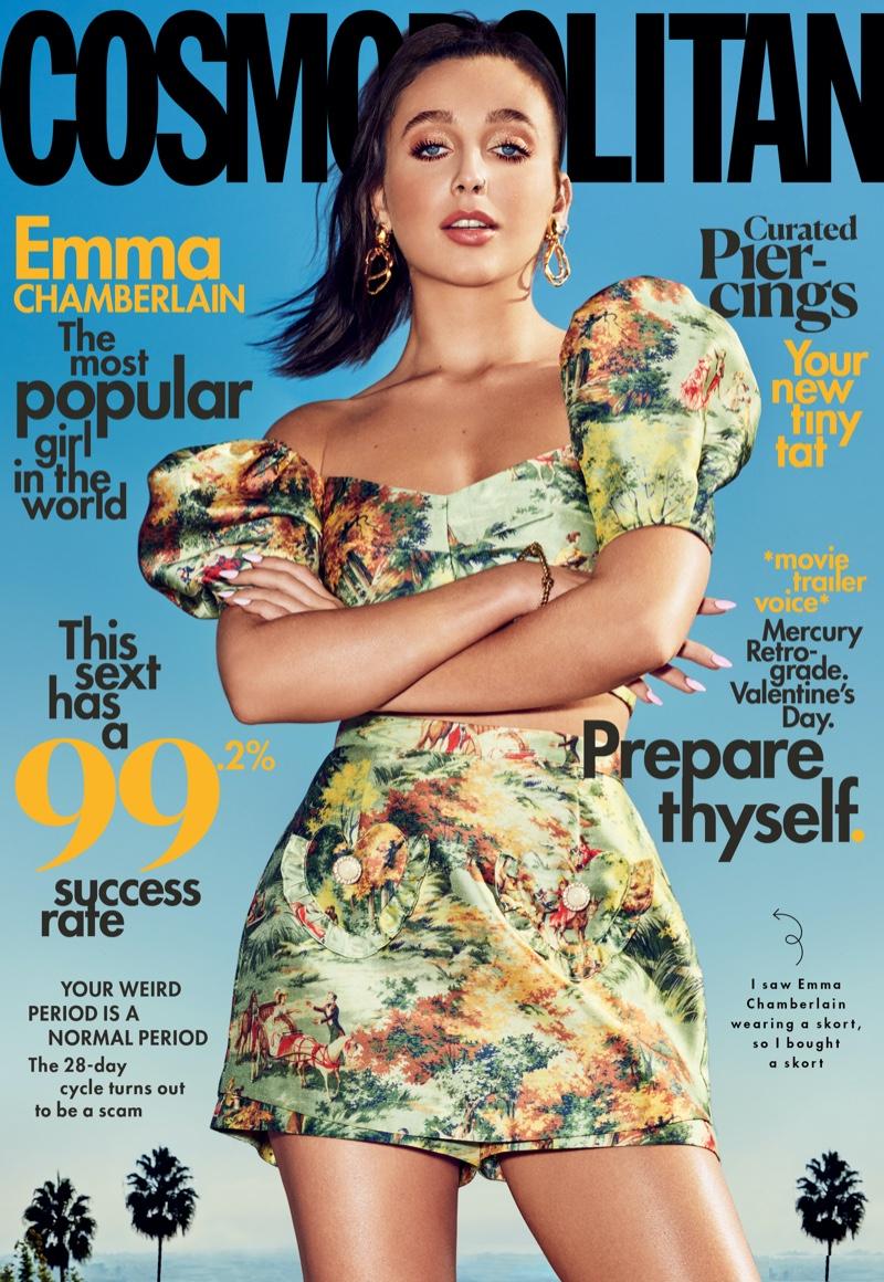 Emma Chamberlain on Cosmopolitan February 2020 Cover