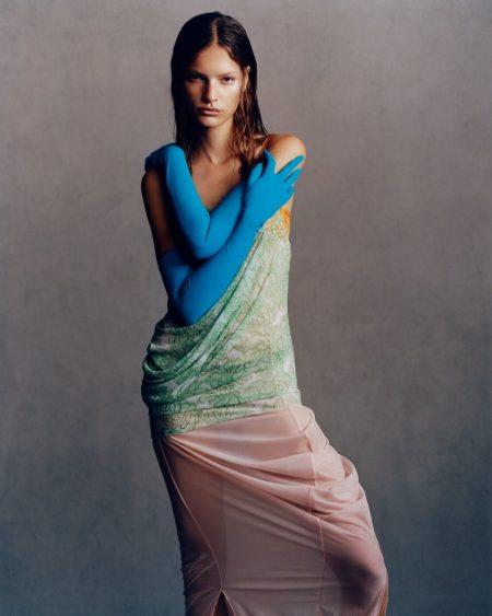Faretta Poses in Statement Fashion for Revue Magazine