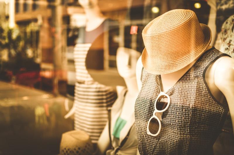 Fashion Boutique Hat Sunglasses Mannequin