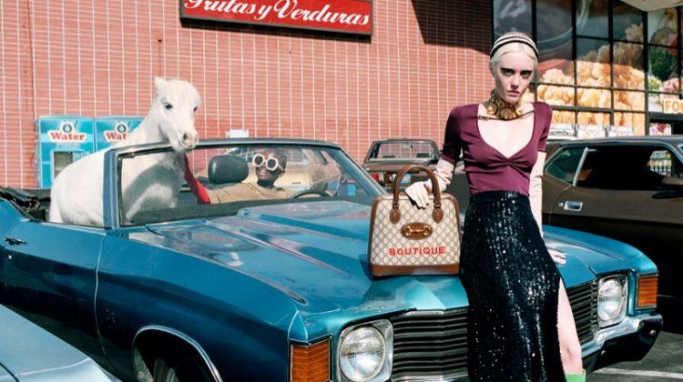Eli Romanova stars in Gucci spring-summer 2020 campaign
