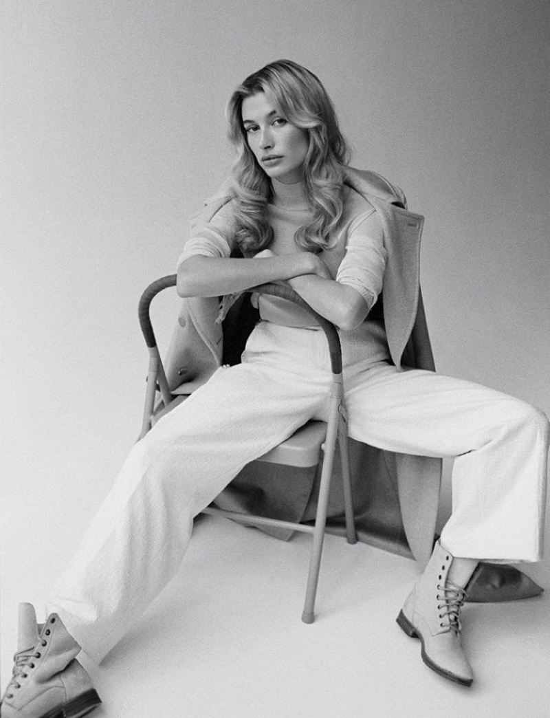 Hailey Baldwin Poses in Relaxed Styles for Vogue Hong Kong