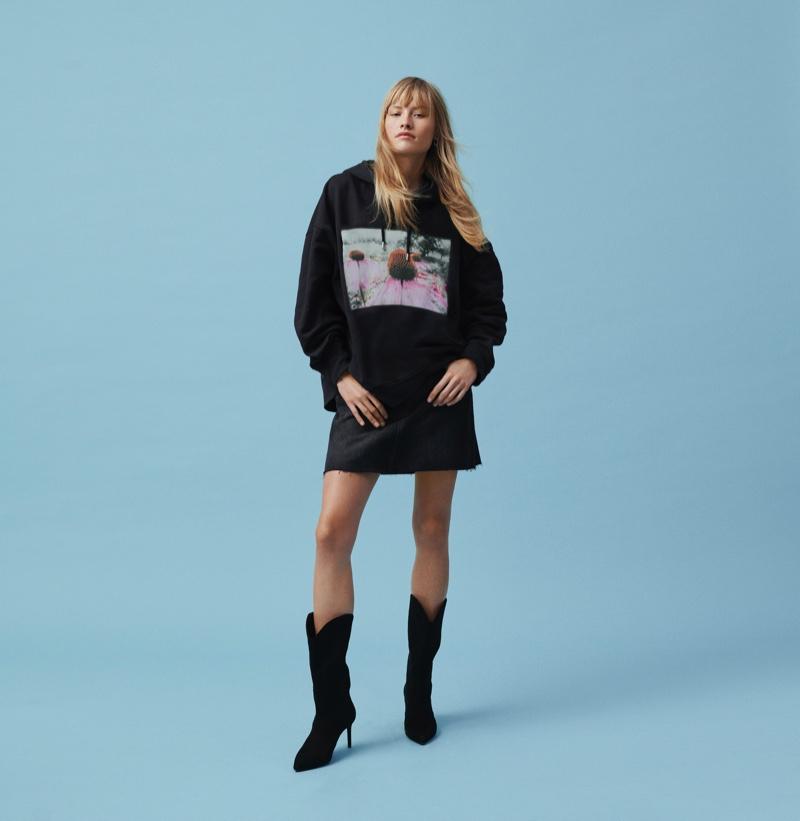 Klara Kristin wears Helena Christensen x H&M collaboration
