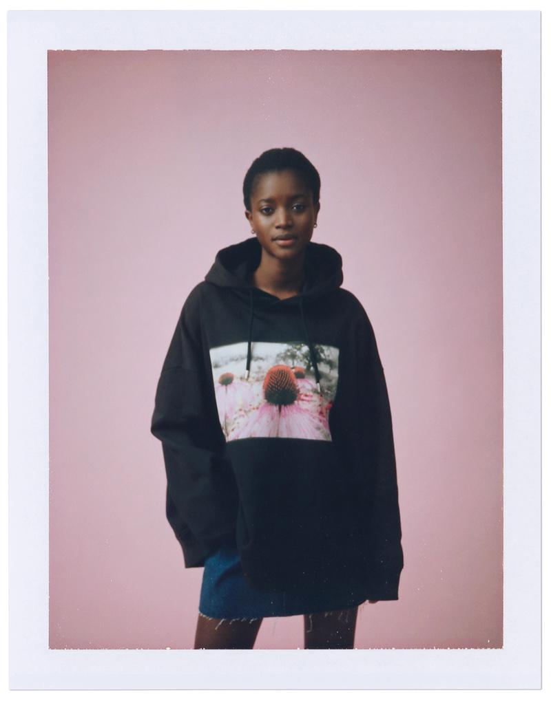 Oumie Jammeh models Helena Christensen x H&M collaboration