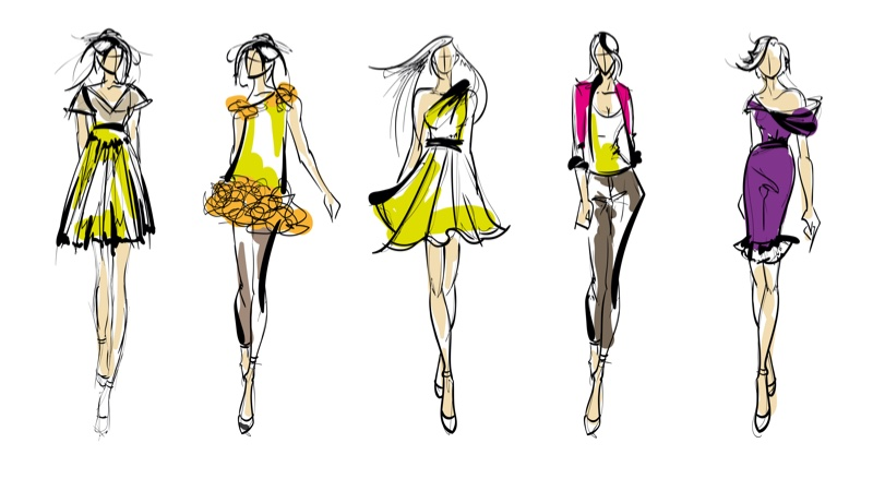 Illustrations Fashion Designs Dresses