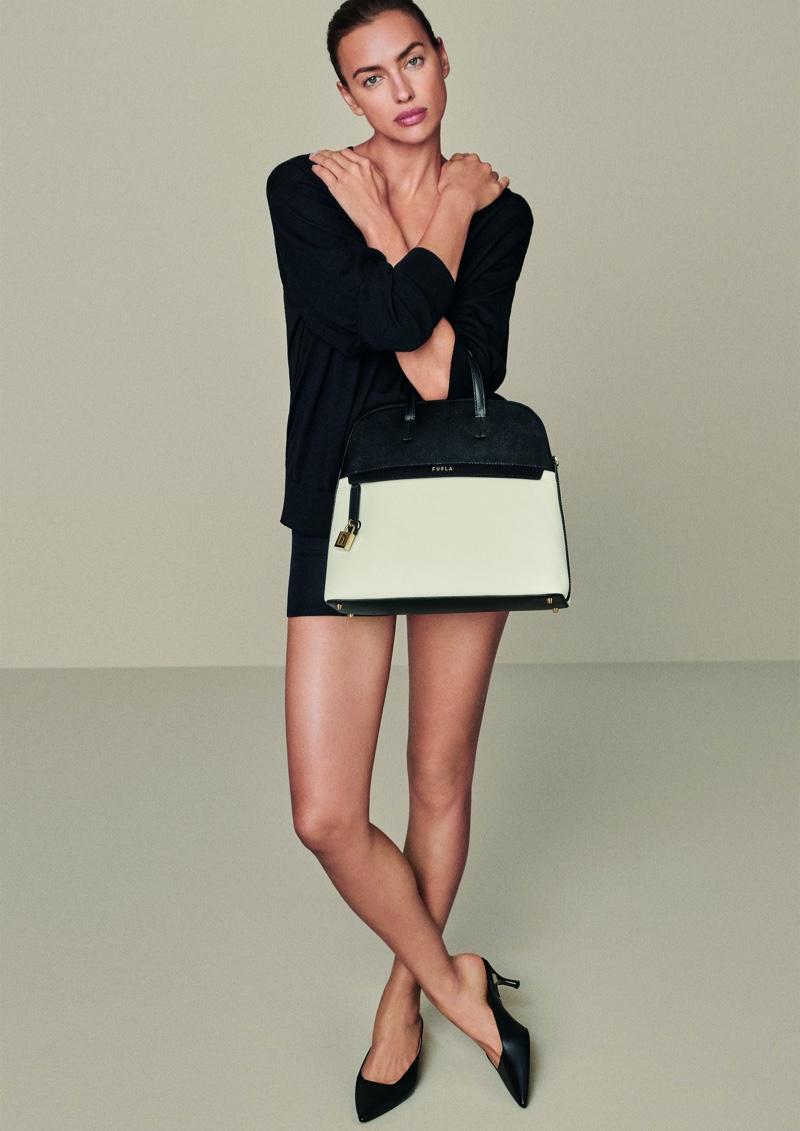 Irina Shayk strikes a pose for Furla spring-summer 2020 campaign