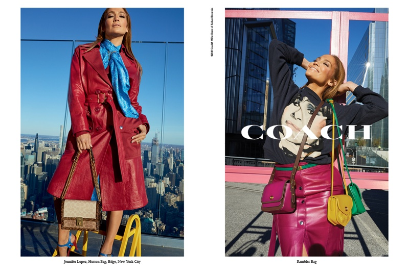 An image from Coach's spring 2020 advertising campaign with Jennifer Lopez
