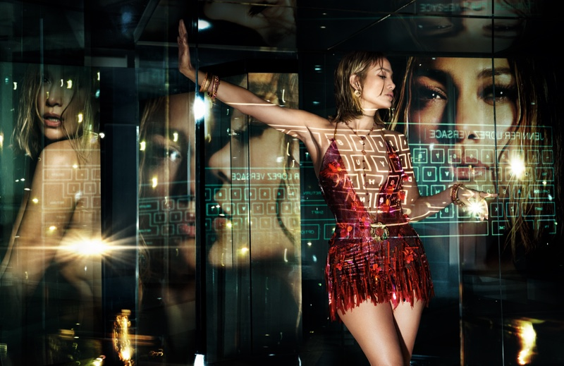 Looking red-hot, Jennifer Lopez fronts Versace spring-summer 2020 campaign