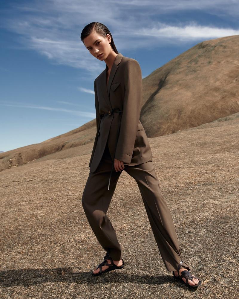 Joli Stepien Models Cool Suiting for ELLE Germany