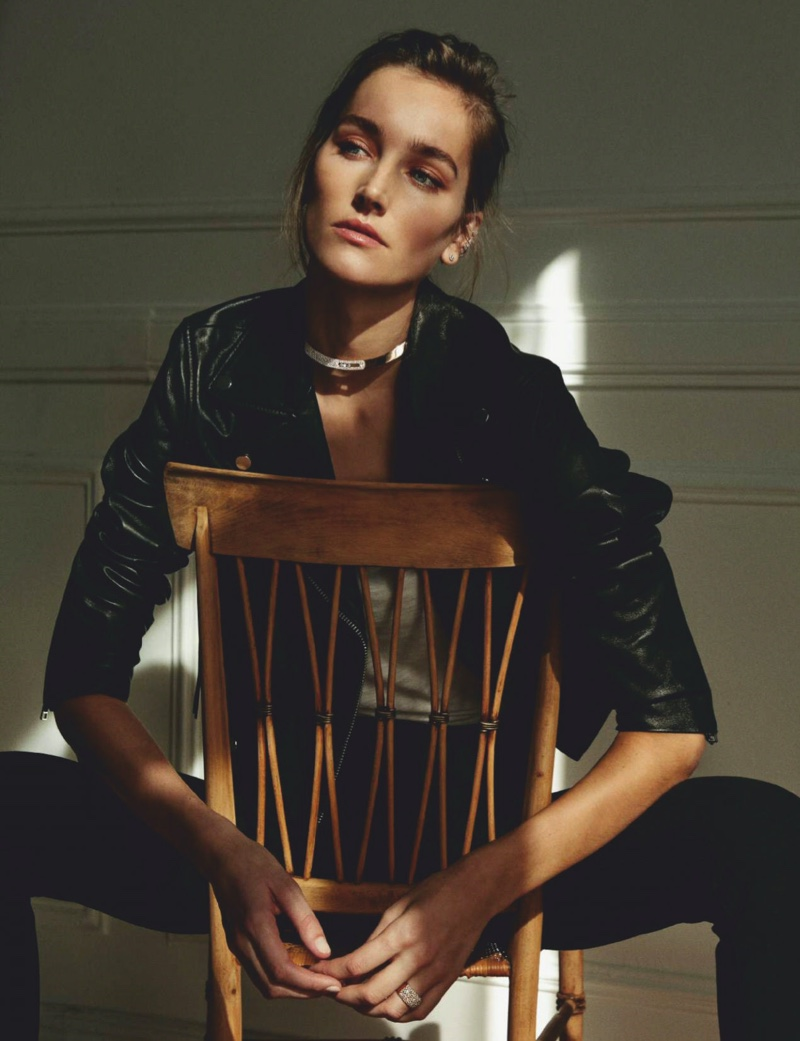 Josephine le Tutour Tries On Polished Looks for ELLE Spain