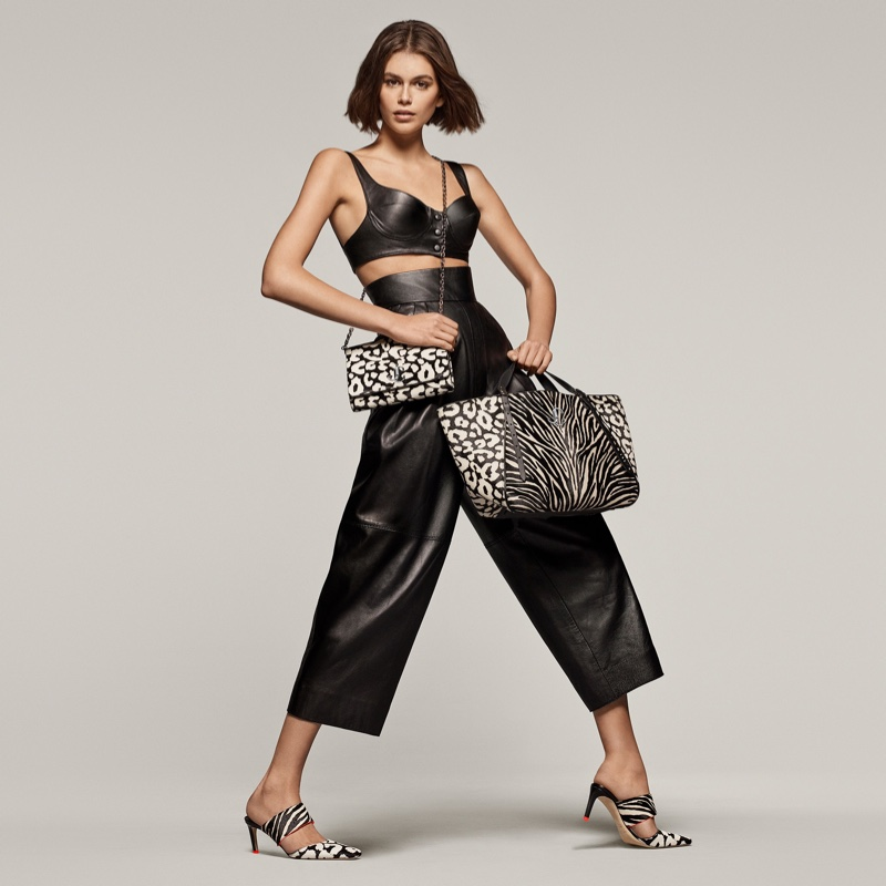 Striking a pose, Kaia Gerber fronts Jimmy Choo spring-summer 2020 campaign