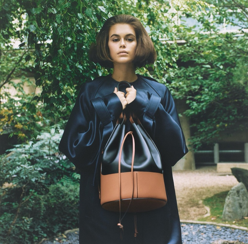 Kaia Gerber is a Garden Beauty for Loewe Publication