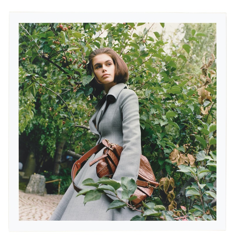 Kaia Gerber is a Garden Beauty for Loewe Publication