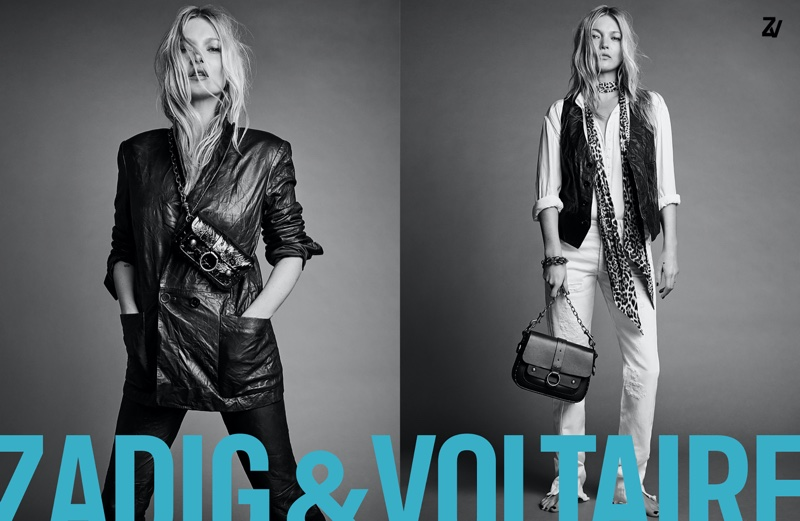 Model Kate Moss appears in Zadig & Voltaire spring-summer 2020 campaign