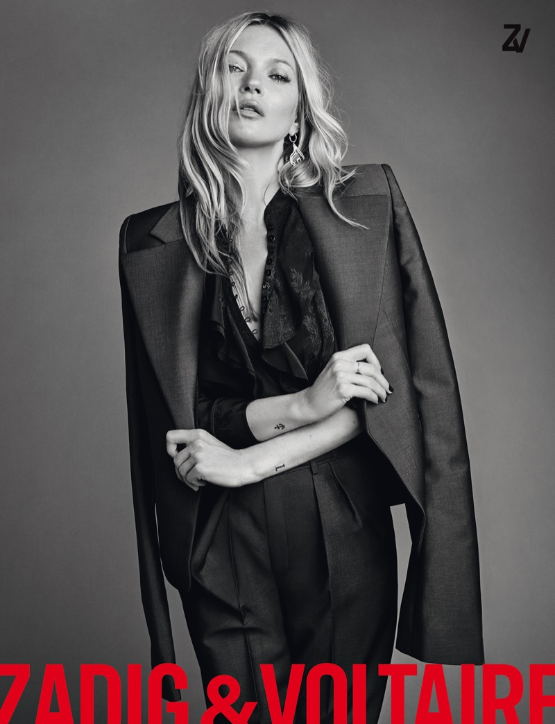 Kate Moss stars in Zadig & Voltaire spring-summer 2020 campaign