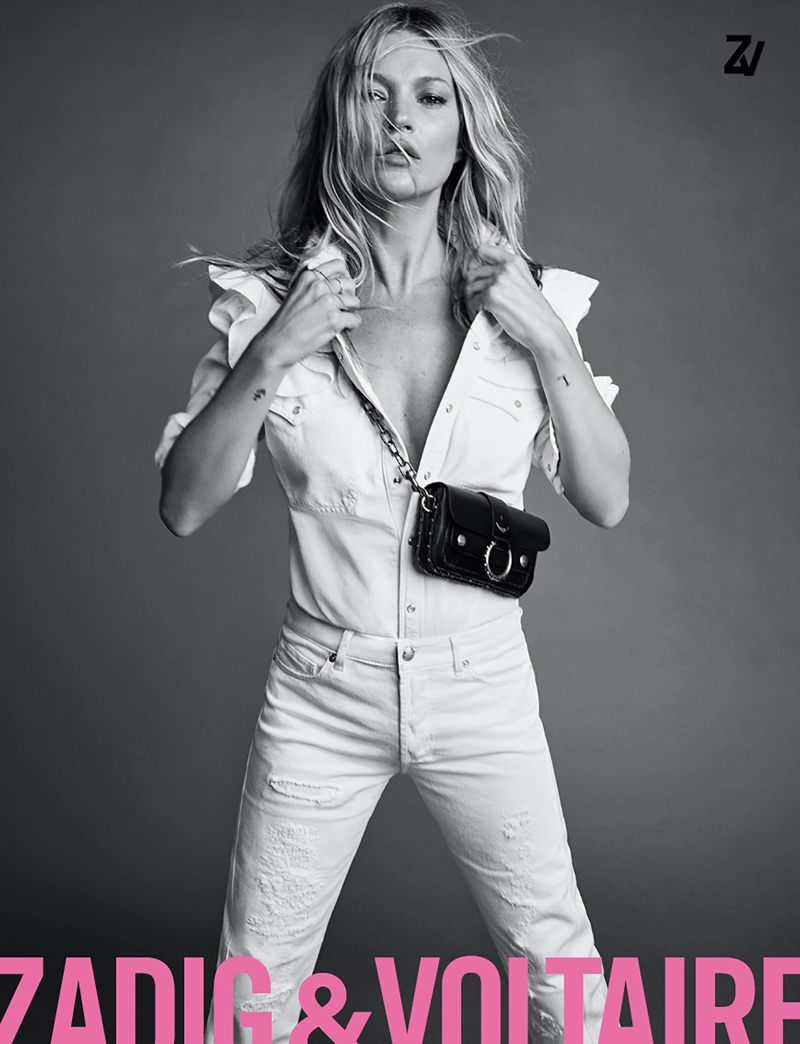 Rocking denim, Kate Moss fronts Zadig & Voltaire spring-summer 2020 campaign