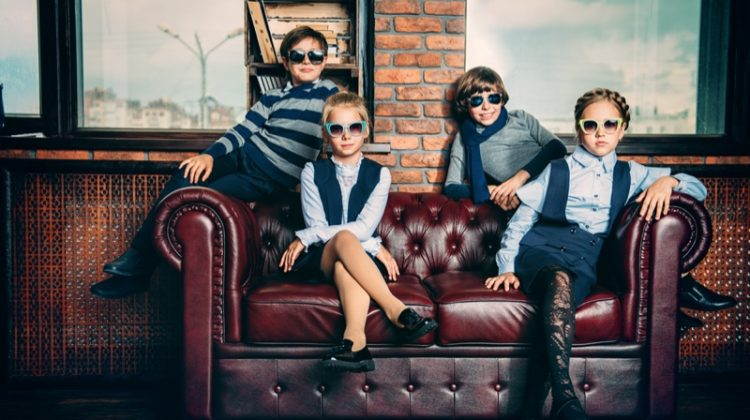 Kids Stylish School Uniforms Sunglasses Cool
