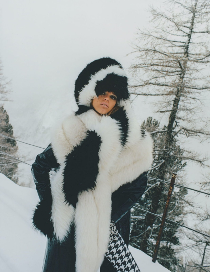 Kim Riekenberg Looks Luxe in the Snow for Tatler