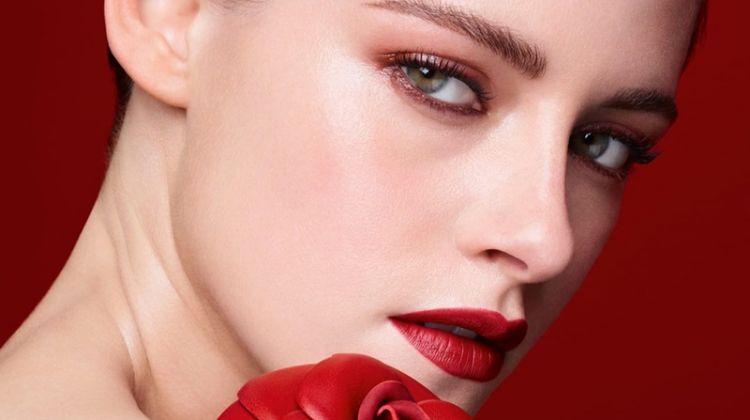 Actress Kristen Stewart gets her closeup in Chanel Rouge Allure Velvet lipstick campaign