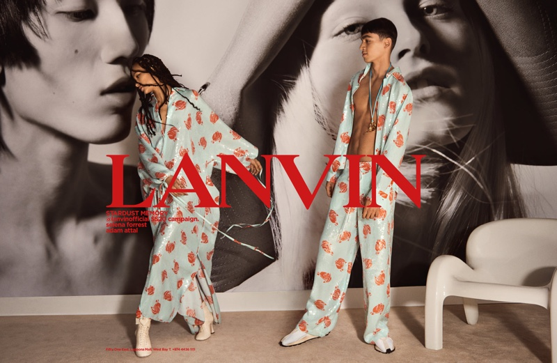 Selena Forrest and Meng Yu Qi front Lanvin spring-summer 2020 campaign