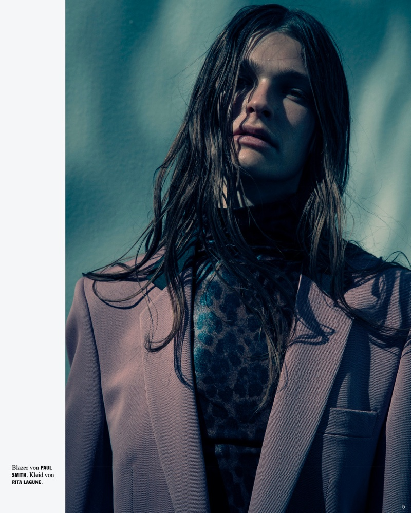 Laura Schoenmakers Embraces Neutral Fashion for Faces Magazine