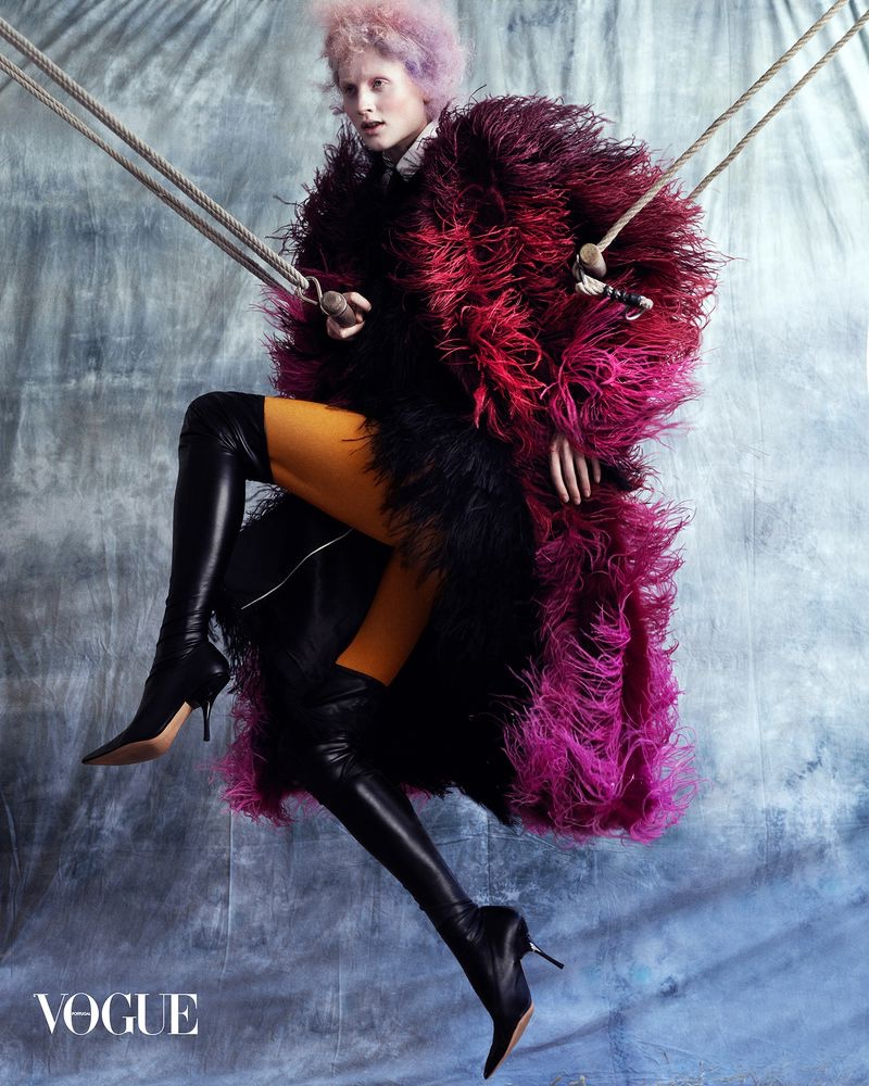 Lea de Wouters Poses in Avant-Garde Circus Style for Vogue Portugal