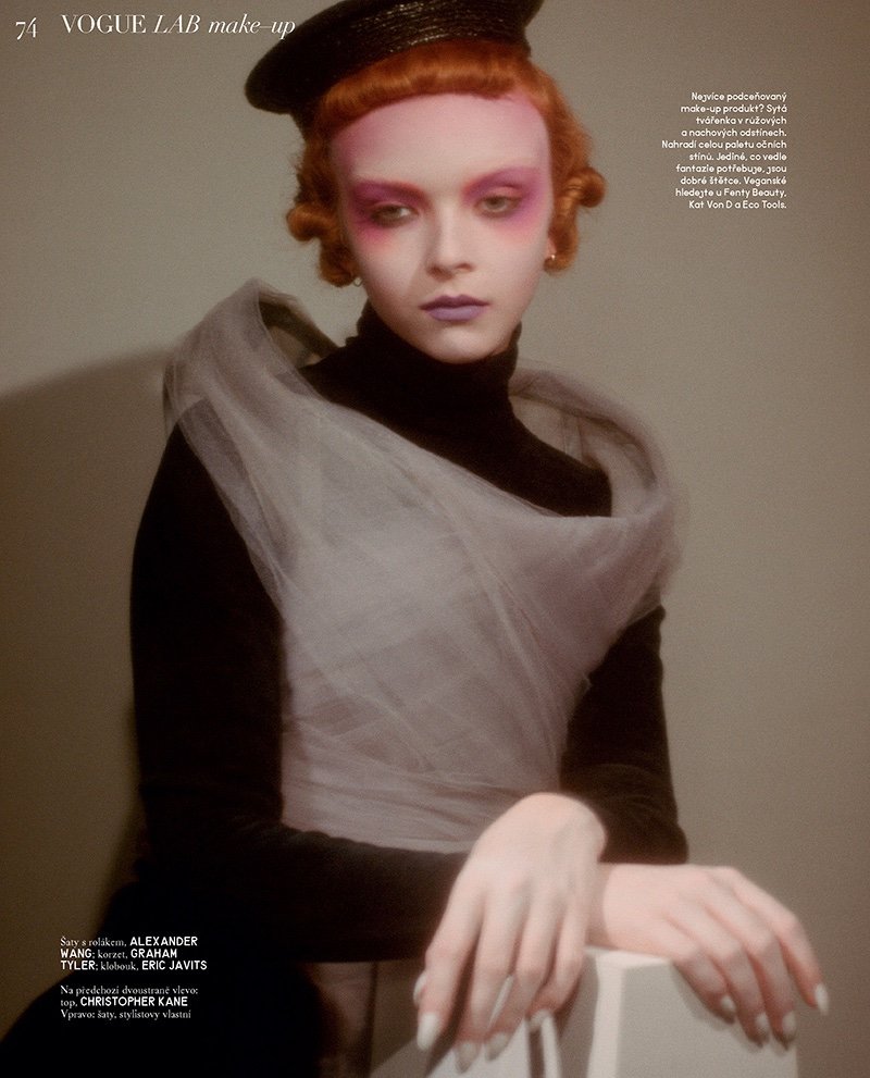 Lily Nova Wears Avant-Garde Looks for Vogue Czechoslovakia