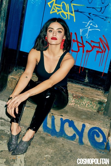 Lucy Hale Poses in Cool Girl Looks for Cosmopolitan