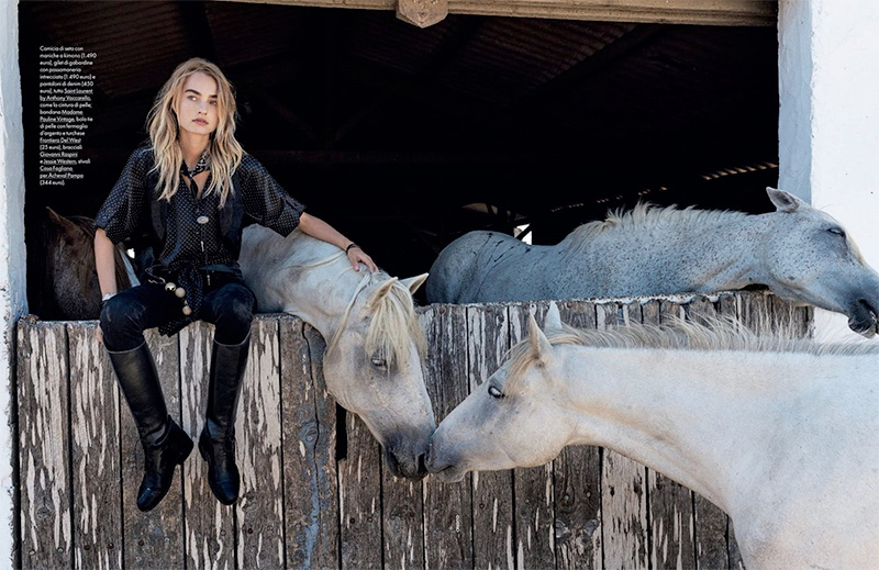 Maartje Verhoef Takes On Equestrian Fashion for ELLE Italy