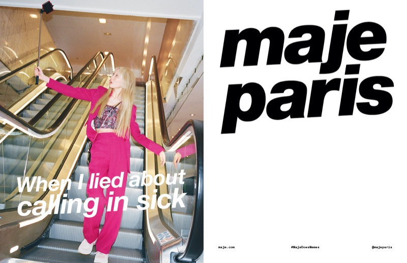 Maje unveils a meme inspired campaign for spring-summer